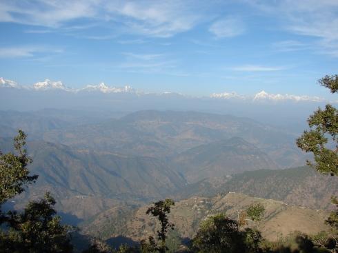 The Himalayan range as seen from Nainital