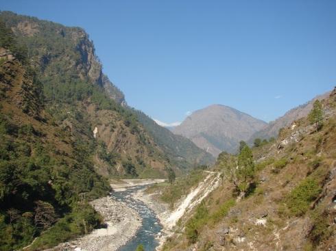 Following the Kali river