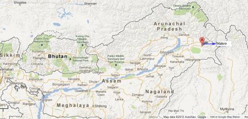 Wakro, Arunachal pradesh (Google Map)