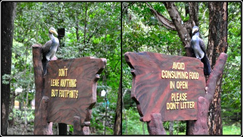 Innovative signboards within the park