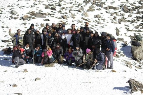 The full team at Roopkund [Courtesy Shivam Singh]
